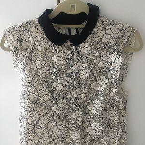 Zara lace top size 8